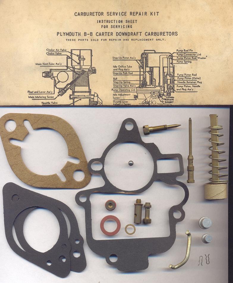 Repuestos carburador carter dodge-plymouth