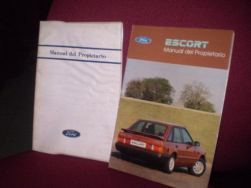 Repuesto Manual Ford Escort