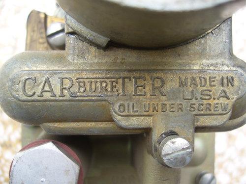 Part Climate Controlled Carter Carburetor