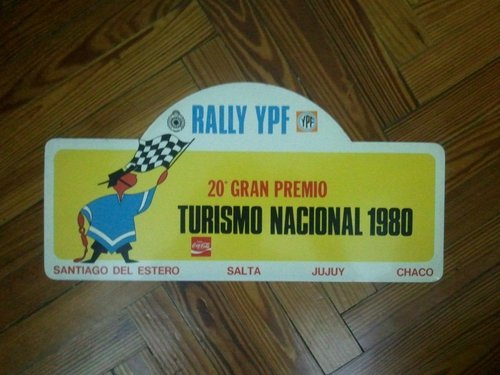 Part Ypf 1980 Rally Plates