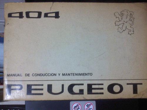 Part Manual Peugeot 404