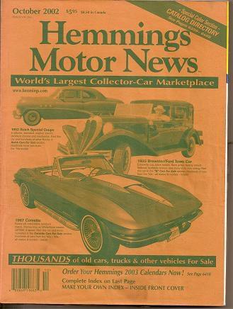 Part Hemmings Motor New