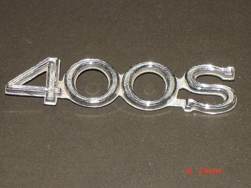 Part Chevrolet 400 S Emblem