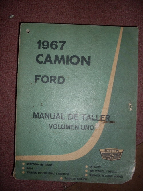 Part Manual Ford 1967