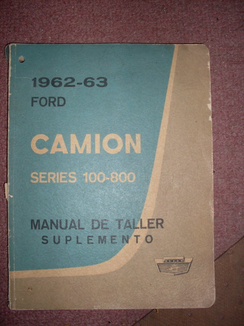 Part Manual Ford 1962-63