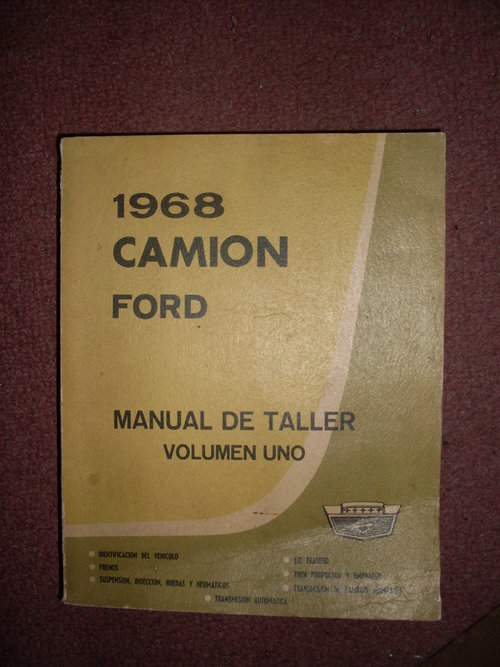 Part Manual Ford 1968