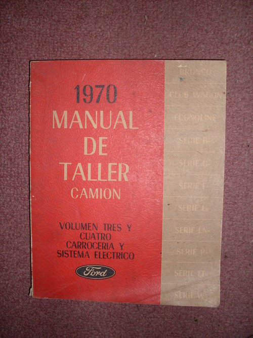 Part Manual Ford 1970