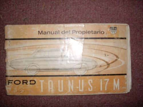 Part Manual Taunus 17 M