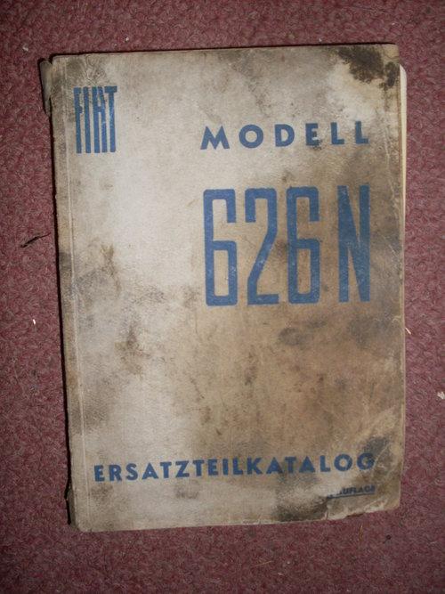 Repuesto Manual Tractor Fiat 626N