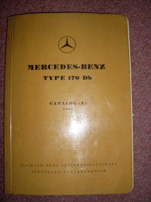 Repuesto Manual Mercedes Benz 170DB