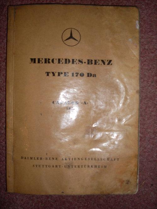 Repuesto Manual Mercedes Benz 170DA