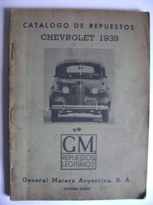 Part Catalogue Spare Parts Chevrolet 1939
