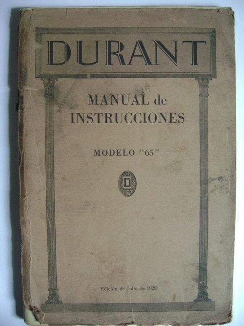 Repuesto Manual Durant
