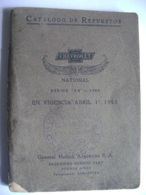 Repuesto Manual Chevrolet 1928