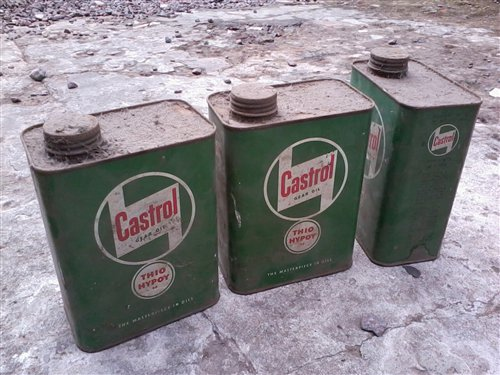 Part Old English Oil Cans