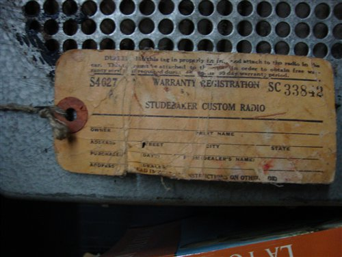 Repuesto Radio Studebaker Custom