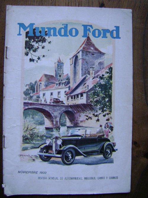 Repuesto Revista Mundo Ford Noviembre 1932