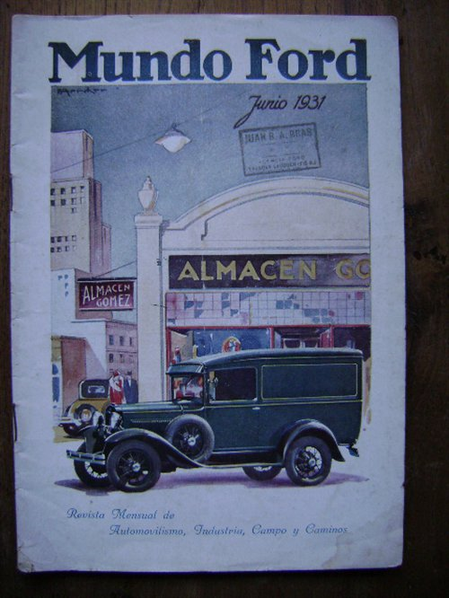 Repuesto Revista Mundo Ford Junio 1931