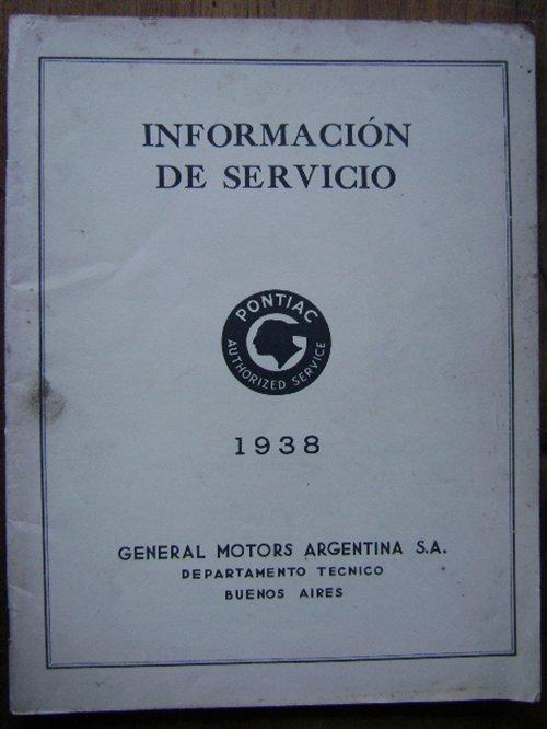 Repuesto Información Servicio Pontiac 1938