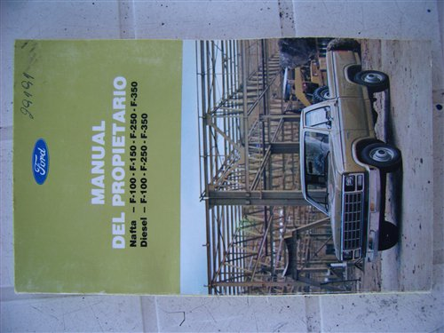 Part Owner Manual Pick Up Ford