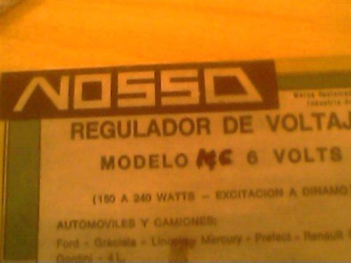 Repuesto Regulador Voltaje 6v Nosso