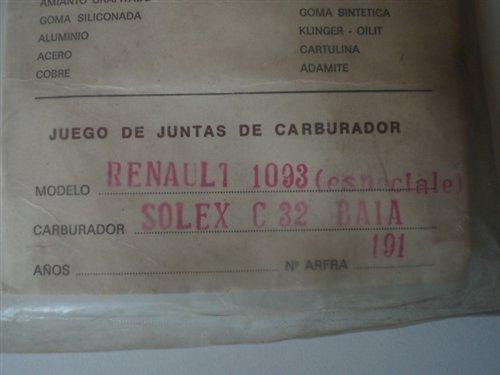 Part Carburetor Gasket Gordini 1093