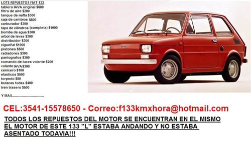 Part Lote Repuestos Fiat 133