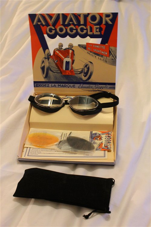 Part Leather Goggles Model Luxor