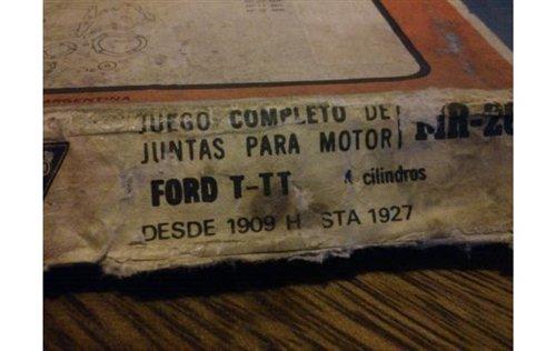 Repuesto Juego Juntas Motor Ford T