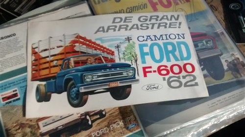 Repuesto Folleto Cami�n Ford F600