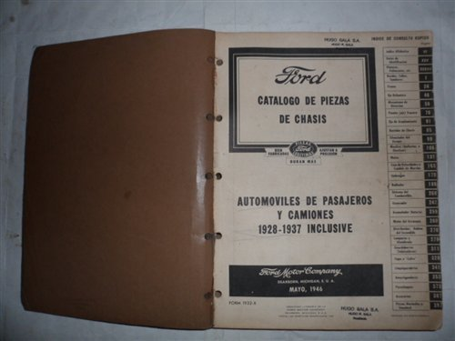 Repuesto Catálogo Ford