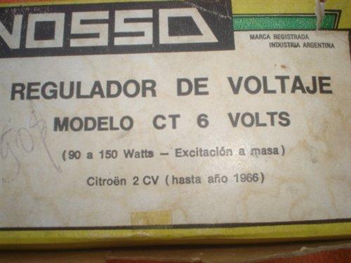 Repuesto Regulador Voltaje 6 Volts Citroen 2CV