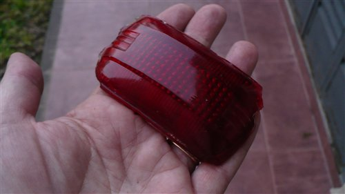 Part Glass Tail Light Dodge 1940