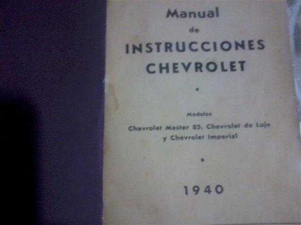 Repuesto Manual Chevrolet 1940