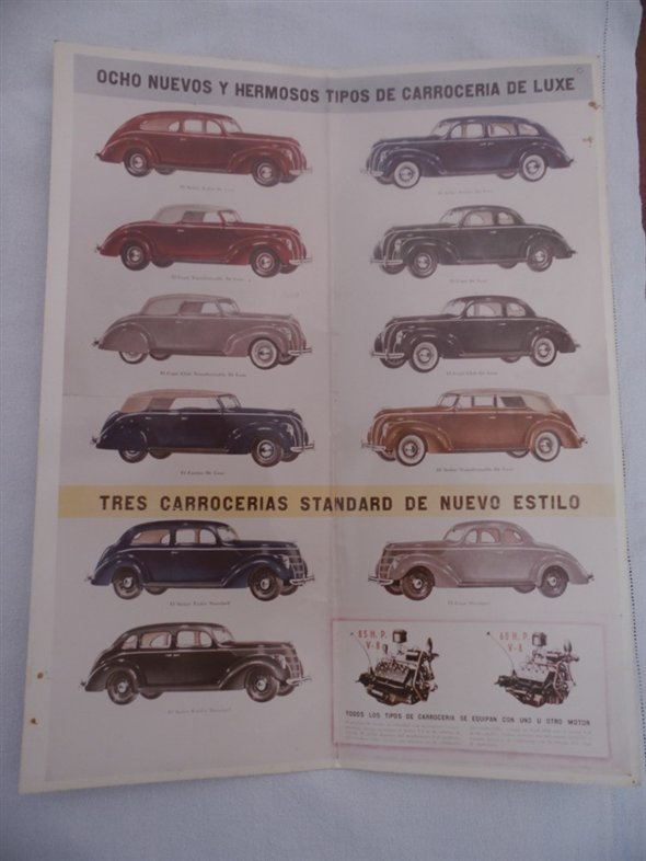 Part Lot Old Brochures Cars Ford V8 1938