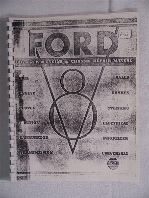 Repuesto Manual Taller Ford V8 1937 1938