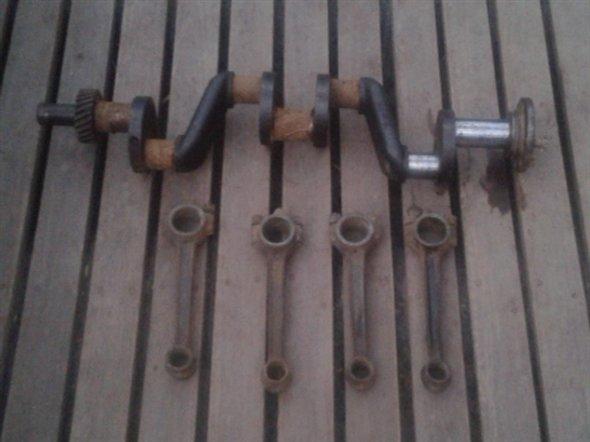 Part Crankshaft Connecting Rods Ford A 1930