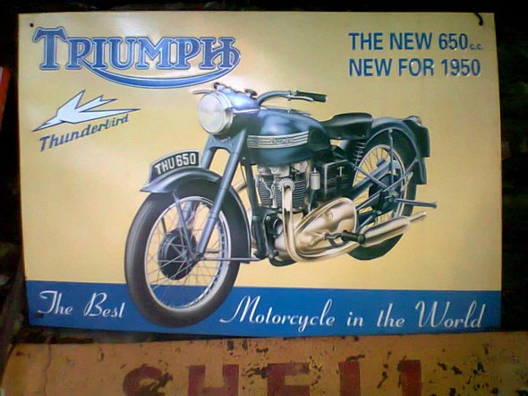 Part Old Poster Sheet Triumph Motorcycles