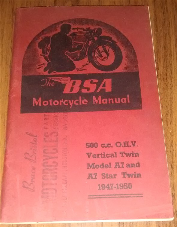Repuesto Manual BSA A7