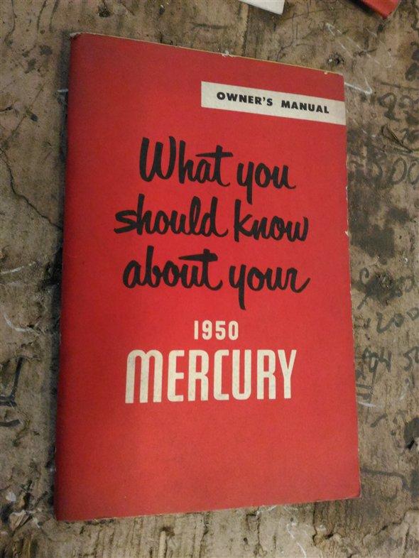 Part Owner Manual Mercury