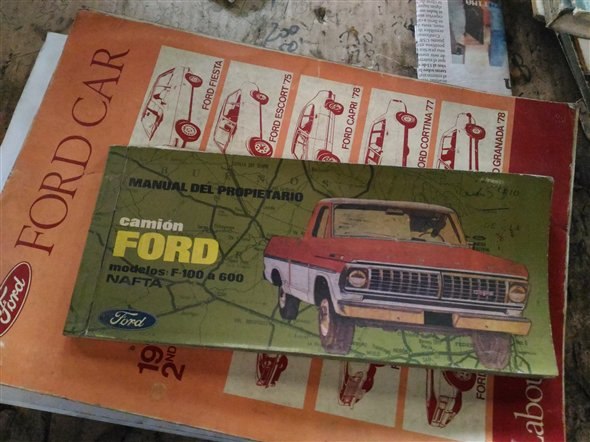 Part Ford Owner Manual F100 1971