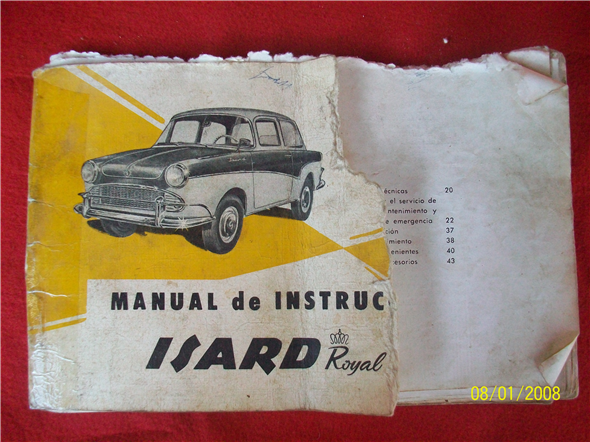 Part Manual Issard 700