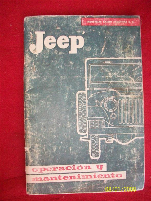 Repuesto Manual Jeep Ika,usuario