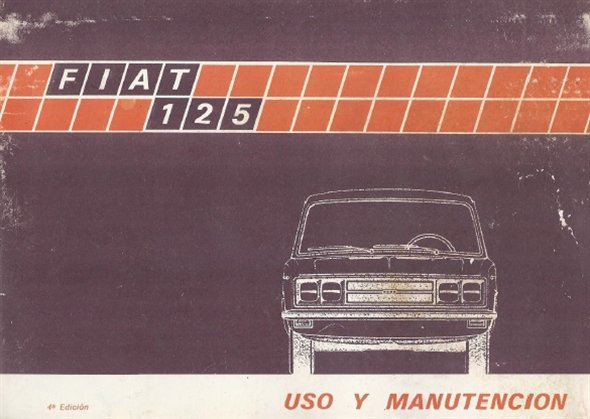 Repuesto Manual Fiat 125 Uso Manutenci�n