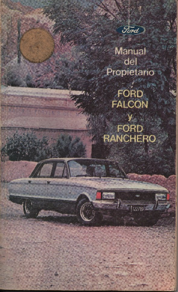 Repuesto Manual Propietario Ford Falcon Ranchero Edición 1979