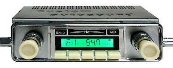 Repuesto Vintage Radio Estereo Am Fm Aux Usb Ipod Mp3 Ivory Knobs