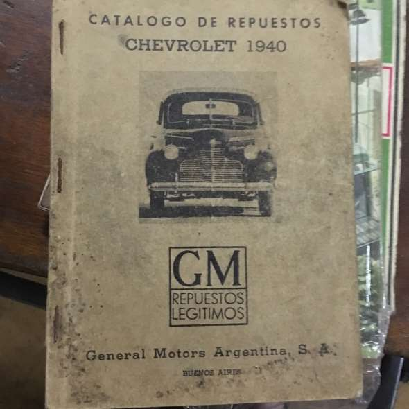 Repuesto Catalogo Repuestos Chevrolet 1940