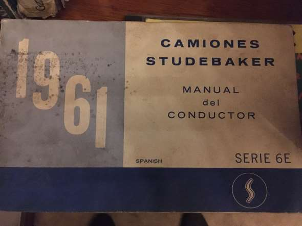 Manual Camiones Studebaker 1961