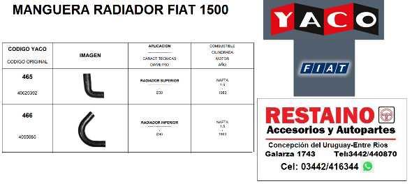 Manguera Radiador Fiat 1500