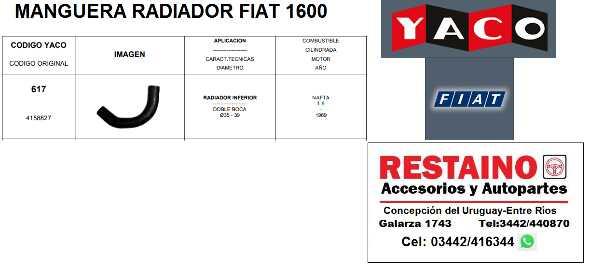 Manguera Radiador Fiat 1600